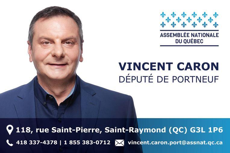 Vincent Caron Député de Portneuf